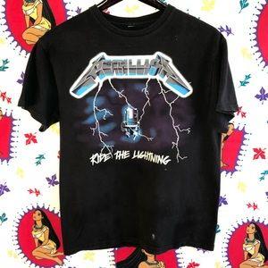 VTG '98 Metallica Ride the Lightning T-shirt Large